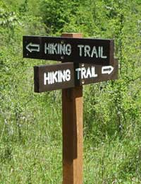 New Hiking and Nature Trail signs